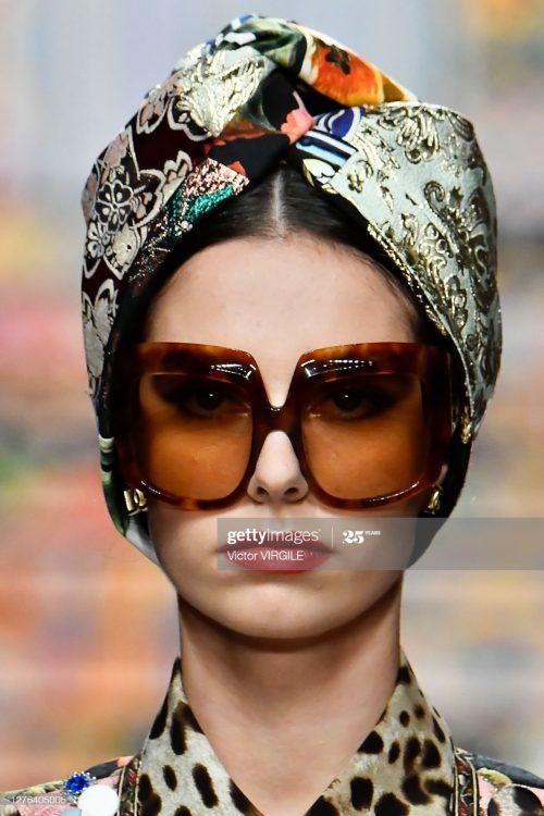 Claudia Gomez walks for Dolce&Gabbana at Milan Fashion Week 2