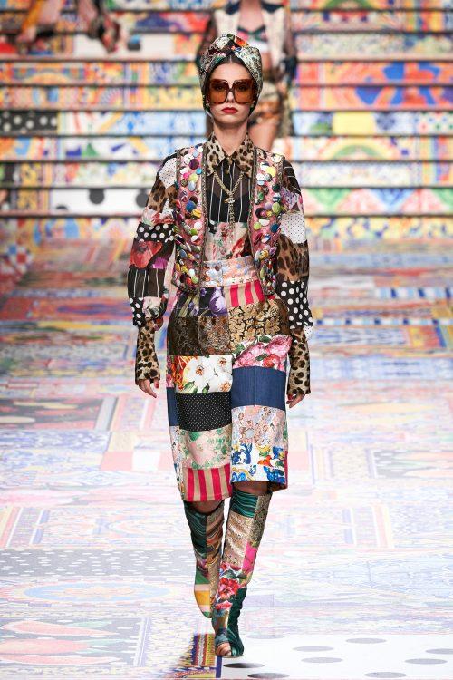 Claudia Gomez walks for Dolce&Gabbana at Milan Fashion Week 1