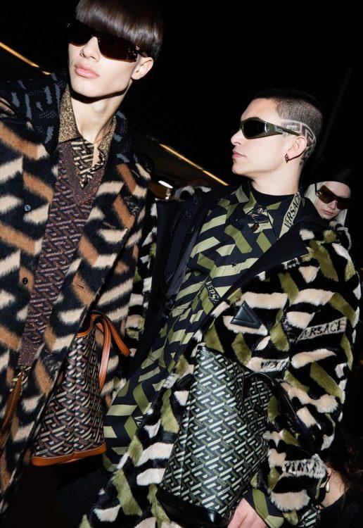 Nacho Penín and Simone Bricchi walk for Versace in Milan 7