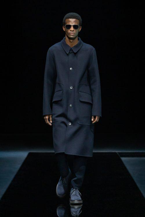 Toni Engonga walks for Giorgio Armani at Milan Fashion Week 18