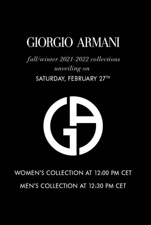 Toni Engonga walks for Giorgio Armani at Milan Fashion Week 19